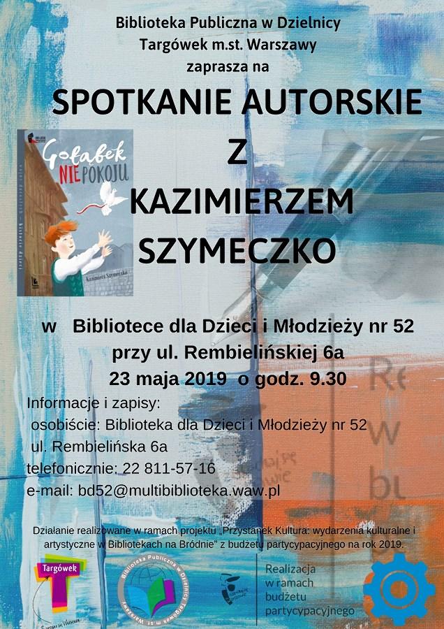 Spotkanie autorskie z Kazimierzem Szymeczko w BD52