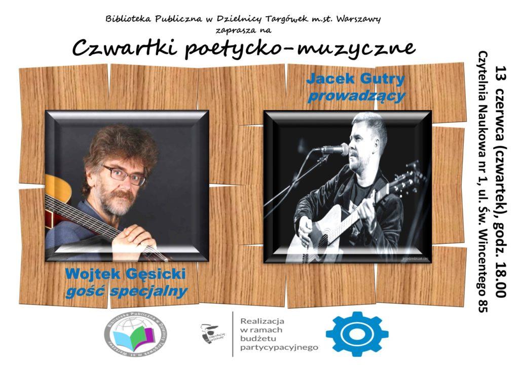 """""""Czwartki poetycko- muzyczne"""" w Czytelni"""