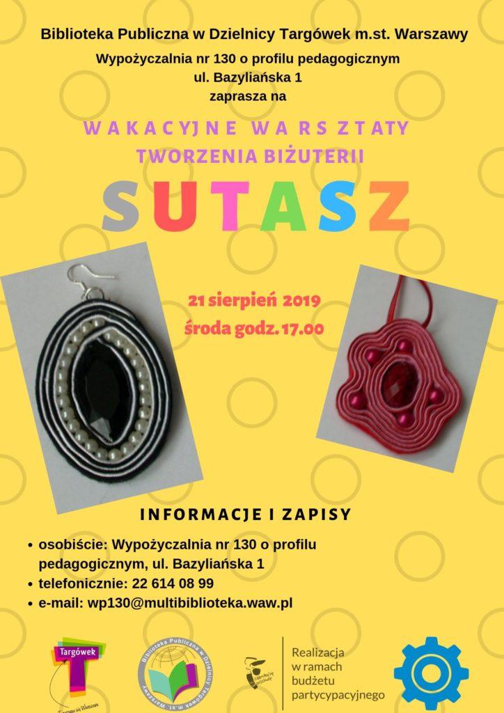 Sutasz - warsztaty tworzenia biżuterii w WP130