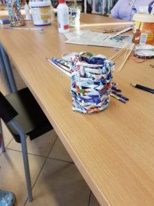 Warsztaty wyplatania z papierowej wikliny