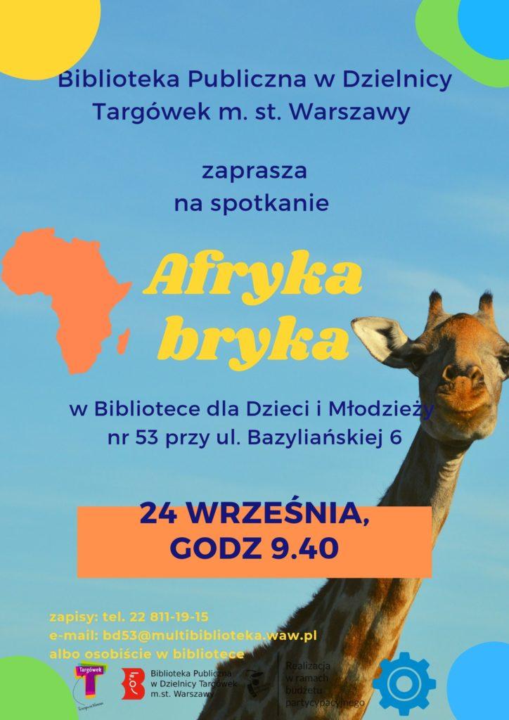 """""""Afryka bryka"""" - warsztaty podróżnicze w BD53"""