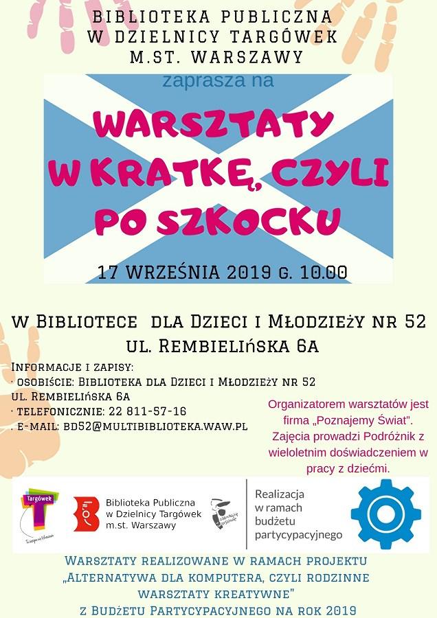 """""""Warsztaty w Kratkę, czyli po Szkocku"""" w BD52"""