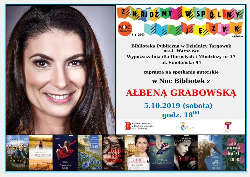 Spotkanie autorskie z Ałbeną Grabowską w W37