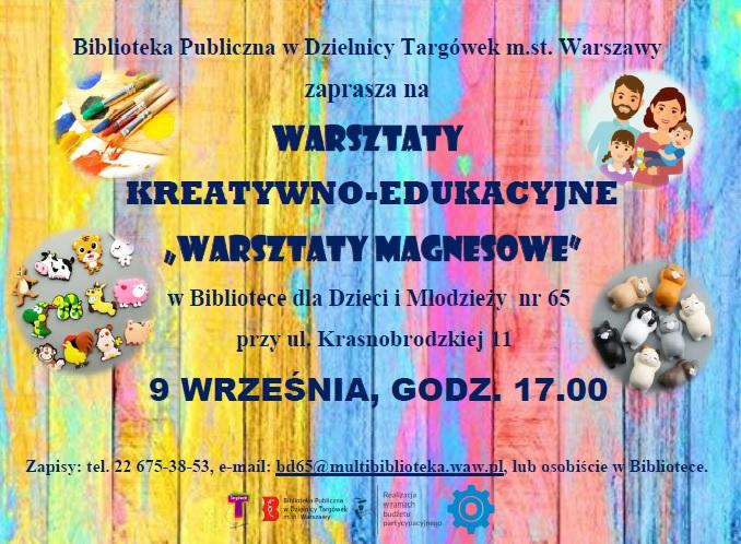 Zaproszenie na warsztaty kreatywno-edukacyjne Warsztaty magnesowe