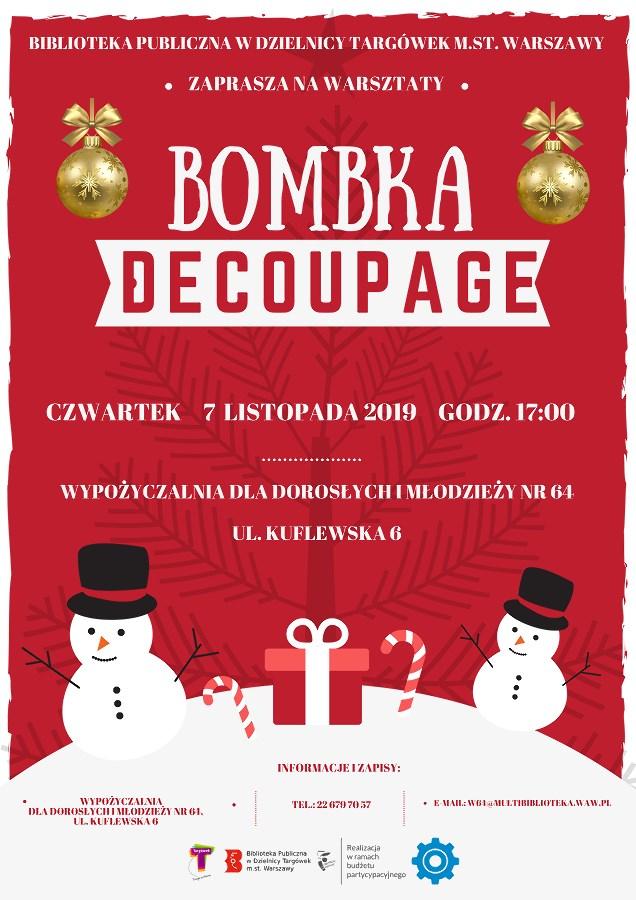 """""""Bombka decoupage"""" - warsztaty kreatywne w W64"""