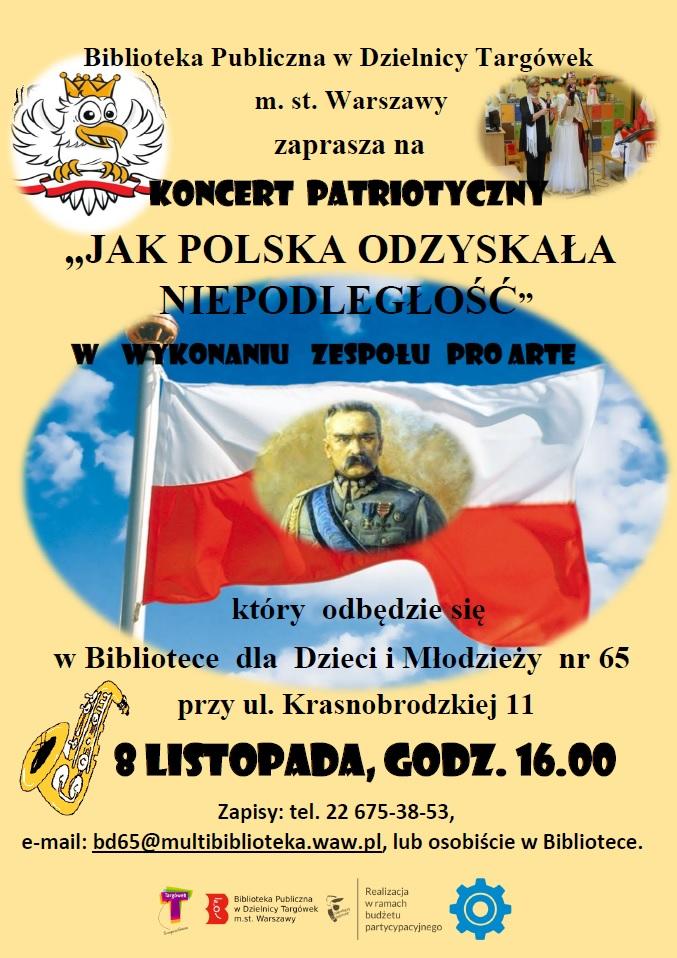 plakat z zaproszeniem na koncert