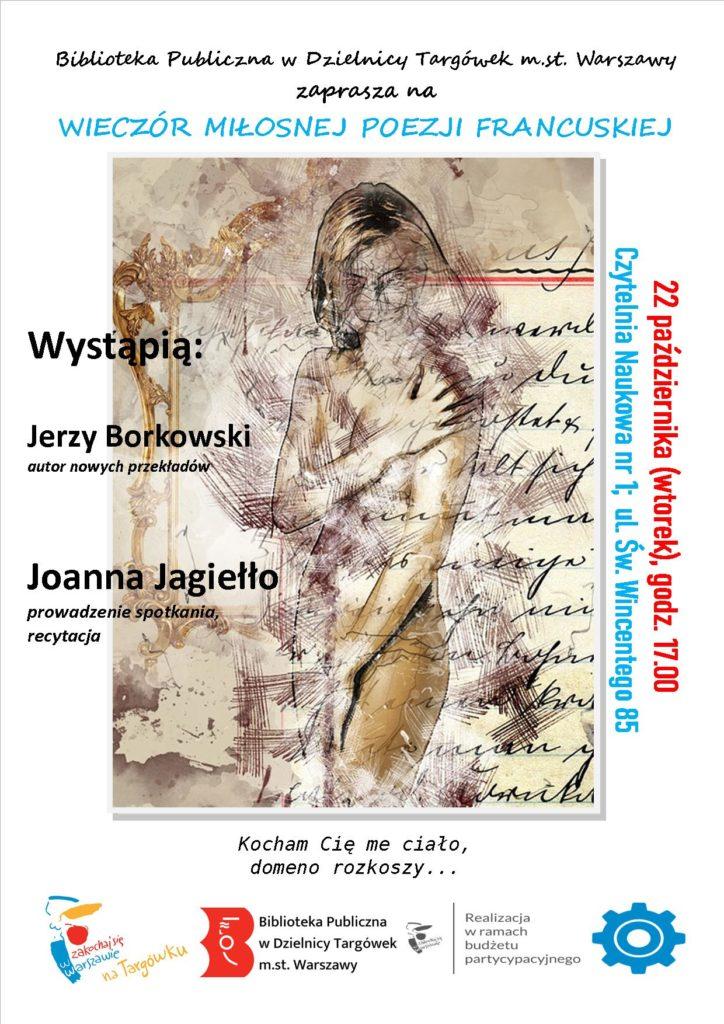 Zaproszenie na Wieczór poezji francuskiej