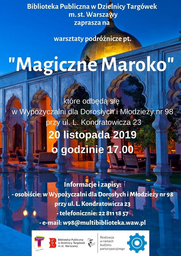 """""""Magiczne Maroko""""- warsztaty podróżnicze w W98"""
