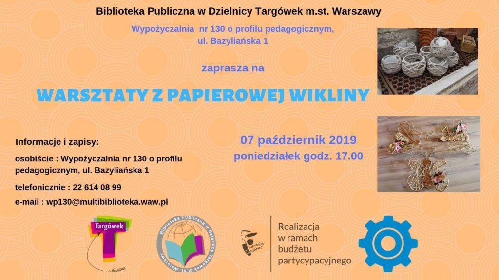 """""""Warsztaty z wiklinowej wikliny"""" w WP130"""