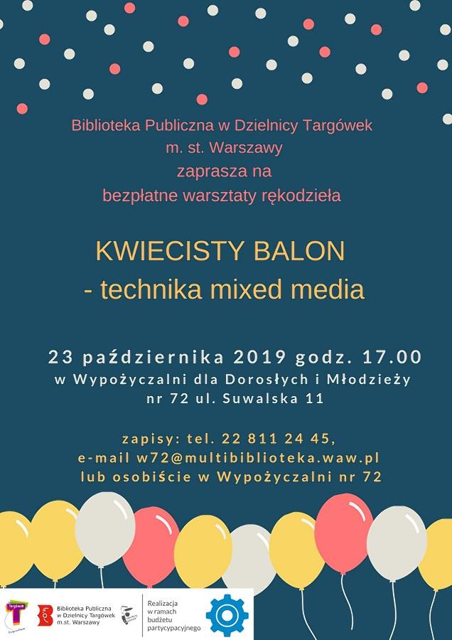"""""""Kwiecisty balon"""" – warsztaty rękodzieła w W72"""