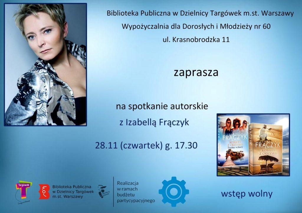 Spotkanie autorskie z Izabellą Frączyk w W60