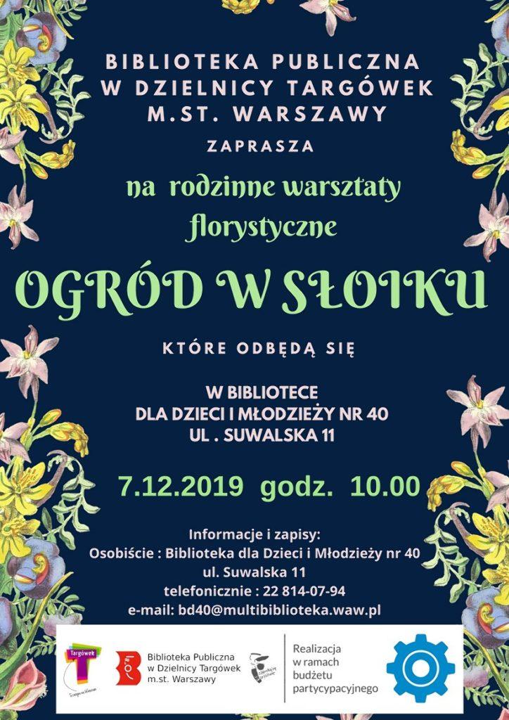 """""""Ogród w słoiku"""" – rodzinne warsztaty florystyczne w BD40"""