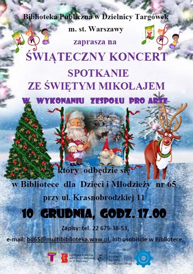 """""""Spotkanie ze Świętym Mikołajem"""" - świąteczny koncert w BD65"""