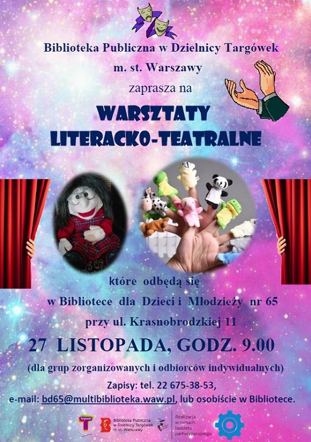 """""""Warsztaty literacko - teatralne"""" w BD65"""