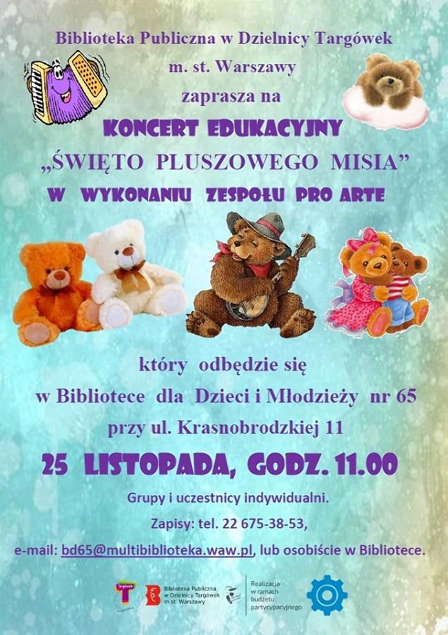 """""""Święta Pluszowego Misia"""" - koncert w BD65"""