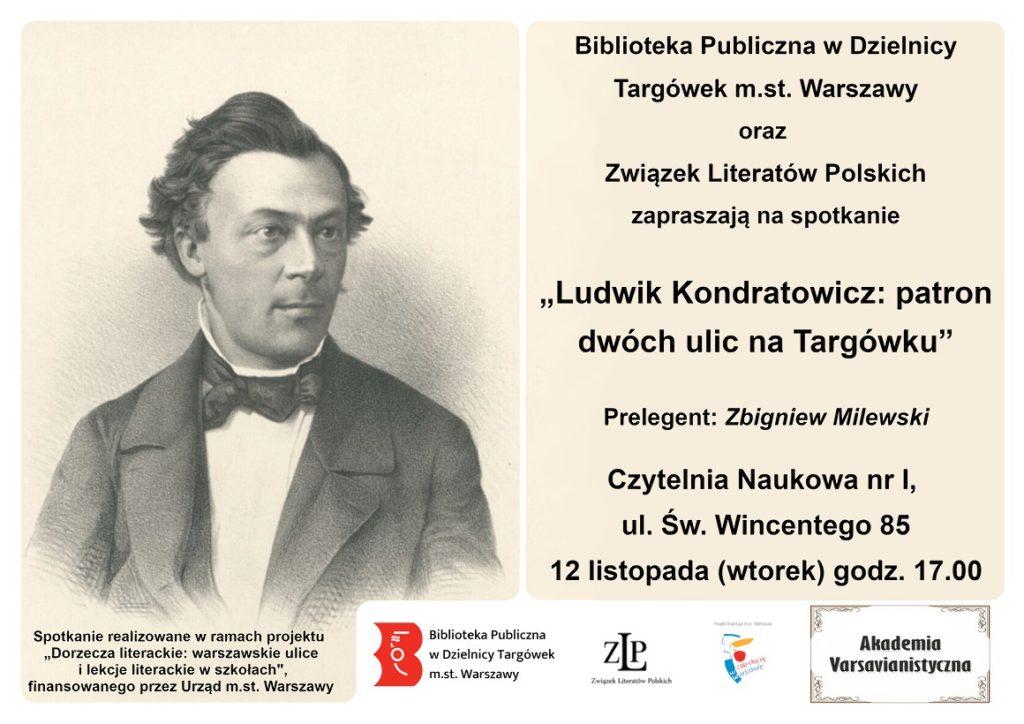 """""""Ludwik Kondratowicz: patron dwóch ulic na Targówku"""""""