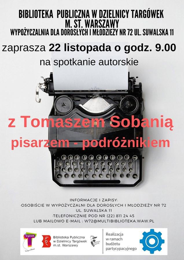 Spotkanie z pisarzem Tomaszem Sobanią w W72