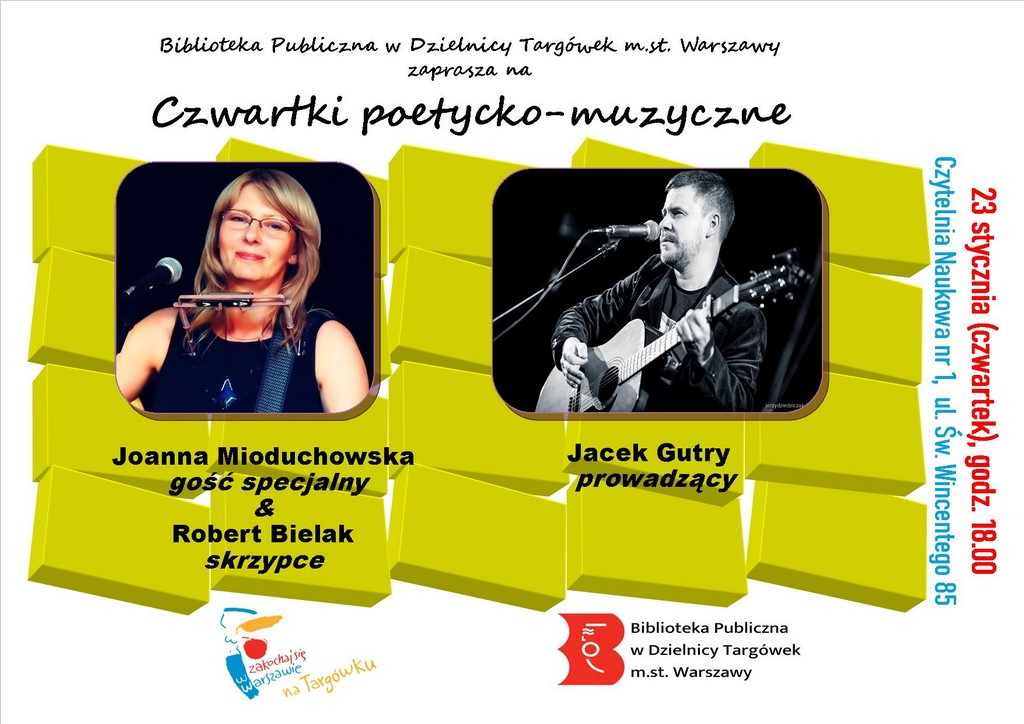 """""""Czwartek poetycko-muzyczny"""" w Czytelni Naukowej"""