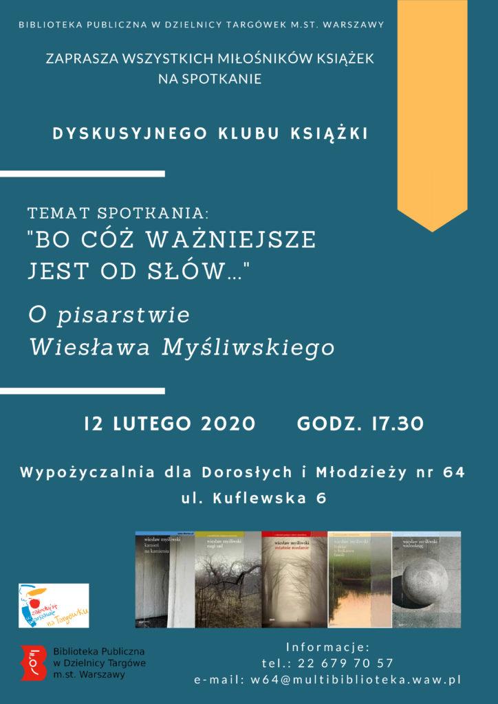 Spotkanie z Wiesławem Myśliwskim w W64