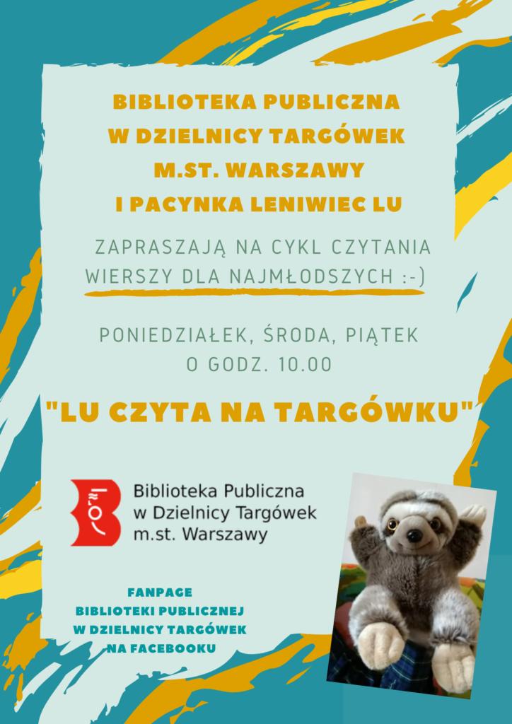 Lu czyta na Targówku