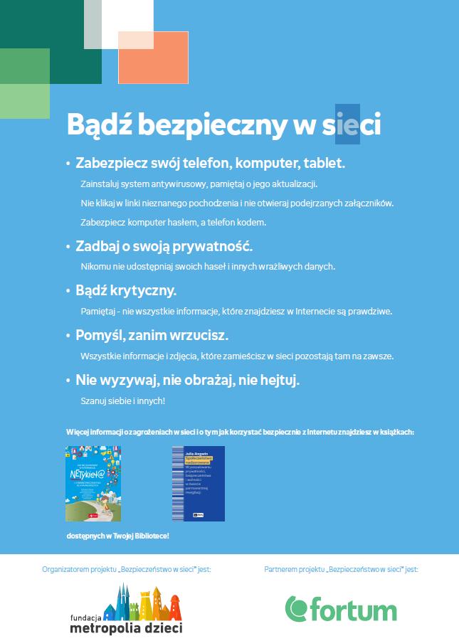 plakat bezpieczeństwo w sieci
