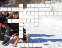 Zimowe zabawy - krzyżówka dla dzieci