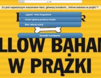 quiz na podstawie książki Yellow Bahama w prążki