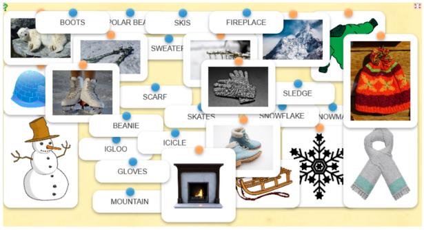 winter words - łamigłówka dla dzieci