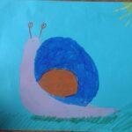 obraz przedstawia ślimaka