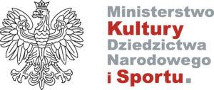 logo Ministerstwa Kultury, Dziedzictwa Narodowego i Sportu; po lewej stronie godło Polski, po prawej - nazwa Ministerstwa
