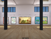 obrazek przedstawia salę; na ścianach widnieją okładki książek wspierających rozwój dzieci