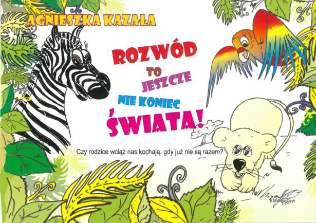 okładka książki; widnieją na niej lew i zebra - bohaterzy bajki